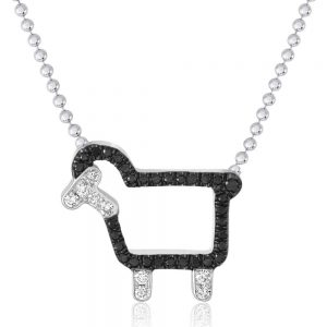 'Johnny' Necklace in Black Diamonds