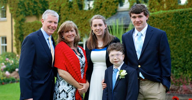 myFace patient Kyle and his family