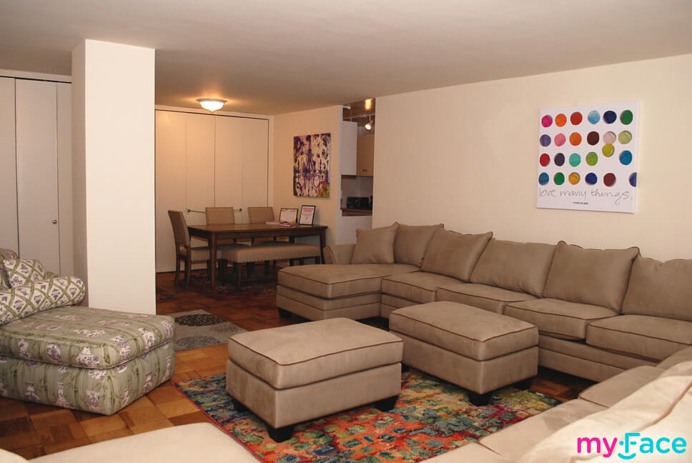 myFace family apartment living room sectional images