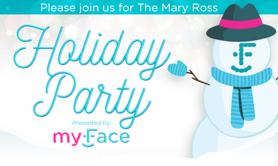 myFace holiday party flyer