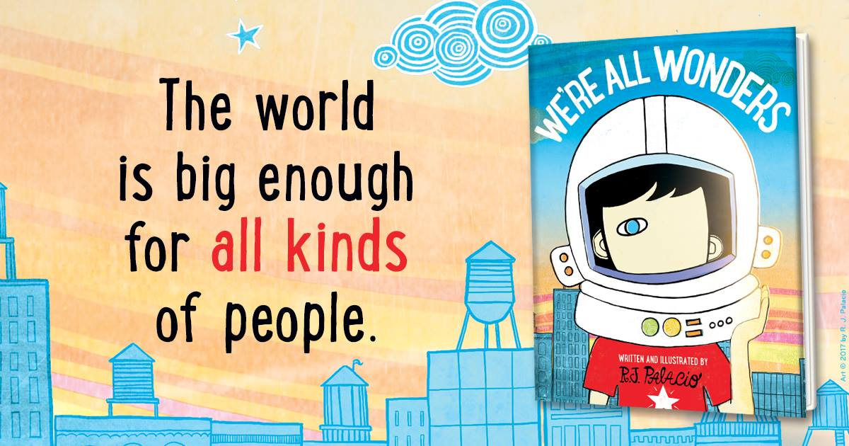 R J Palacio's next chapter: We're All Wonders   myFace