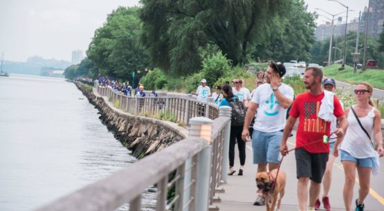 Races for Faces walkers walked along the scenic Riverside Park
